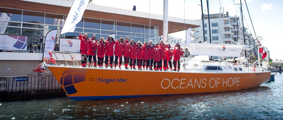 Oceans of Hope Yacht For MS Awareness Anchored In Boston