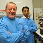 Professor Steve Wilton and Dr. Rakesh Veedu, MS Australia grant recipients