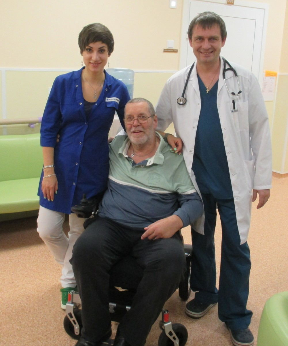 Ian Franks at the Moscow clinic
