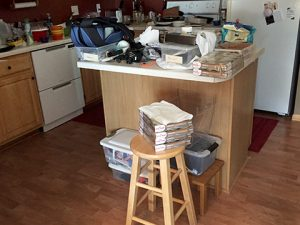 multiple sclerosis fatigue caused clutter on kitchen island