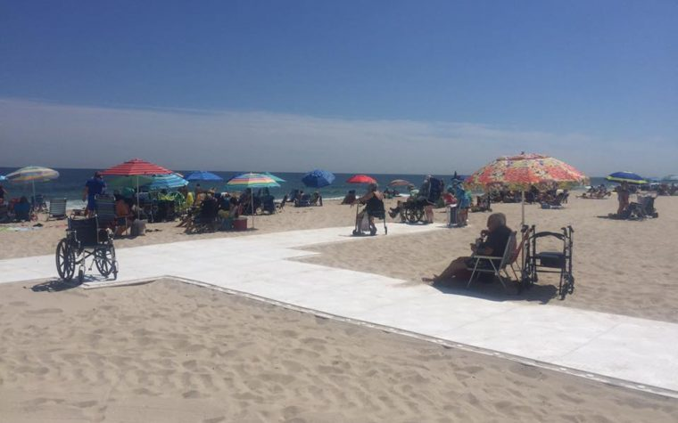 Seaside Park, N.J., beach mats