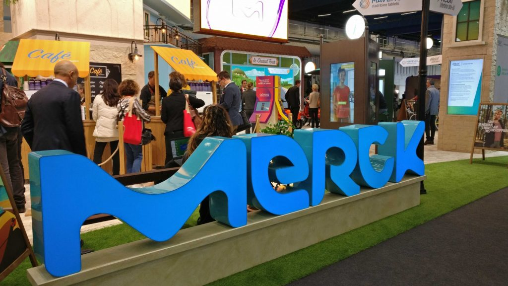 Merck's booth at ECTRIMS 2019.
