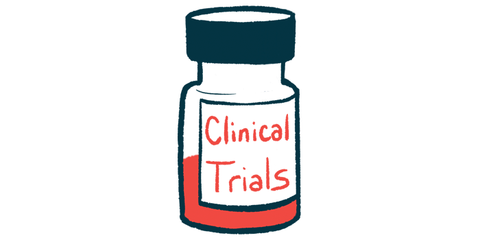 temelimab | Multiple Sclerosis News Today | Illustration of medicine bottle labelled clinical trials