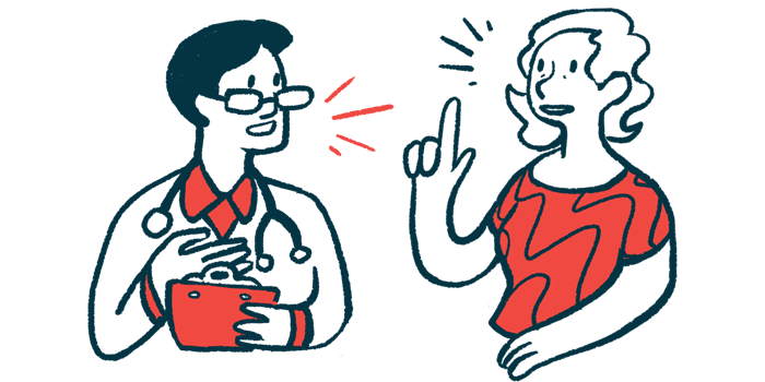 bowel problems | Multiple Sclerosis News Today | advice from MS nurses | Illustration of doctor and patient talking