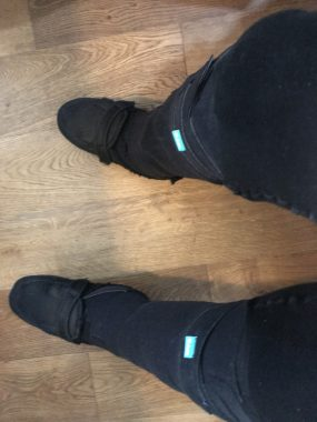 Medical equipment \ MS News Today \ John sports his new lymphedema wraps on both legs