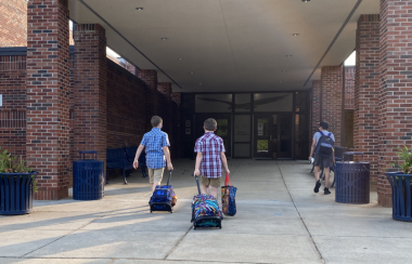 Preparation and MS / Multiple Sclerosis News Today / Photo of boys heading into middle school