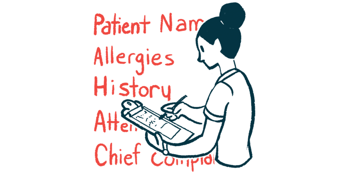 NVG-291 clinical trial   Multiple Sclerosis News Today   illustration of researcher taking patient information