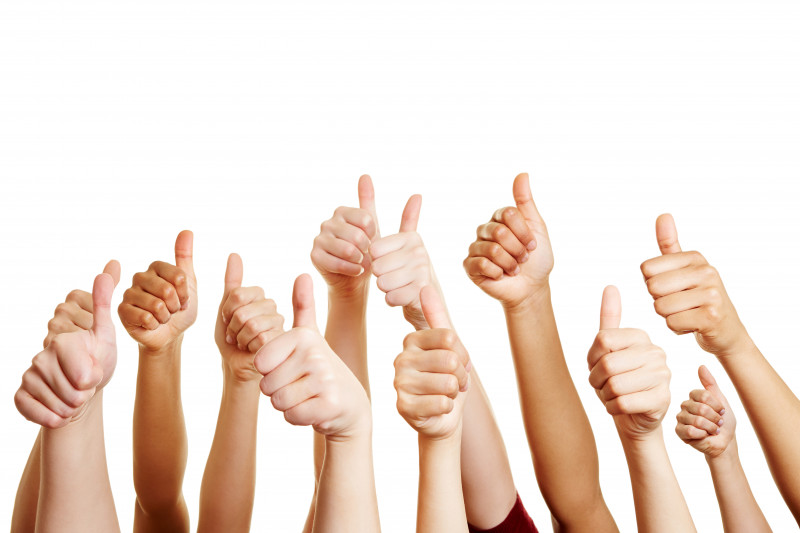Tysabri every six weeks   Multiple Sclerosis News Today   people giving a thumb's up
