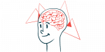 MS brain atrophy   Multiple Sclerosis News Today   illustration of person's brain