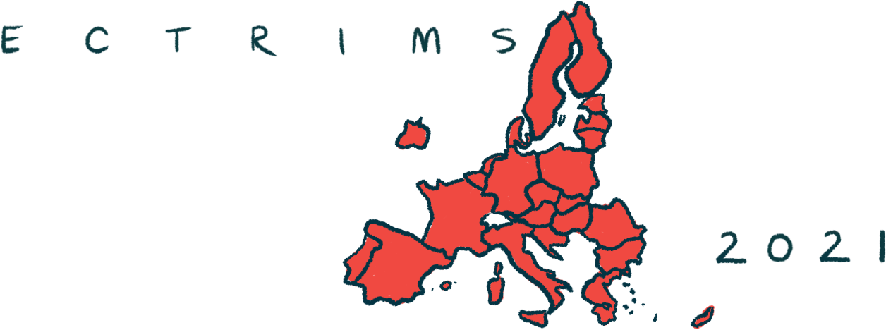 cortical lesions predict long-term cognition and disability/Multiple Sclerosis News Today/ECTRIMS 2021 EU map illustration