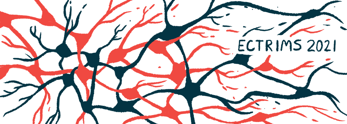 evobrutinib   Multiple Sclerosis News Today   clinical trial data   illustration of neurons