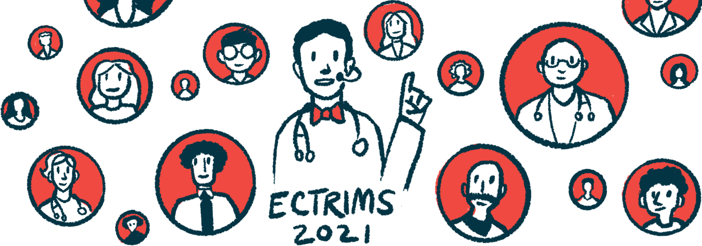 first-line treatment with rituximab/Multiple Sclerosis News Today/ECTRIMS 2021 speaker illustration